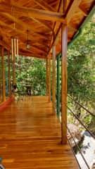 Front Deck overlooking Rio Chirripo