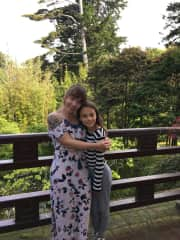My daughter and I at a Japanese Tea Garden