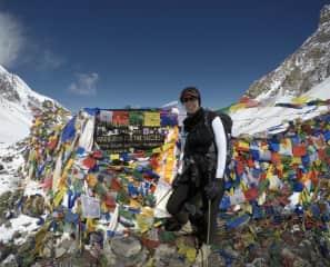 On my Annapurna Circuit Trek in Nepal, April 2018