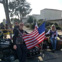 We are members of American Legion Riders also the Patriot Guard.
