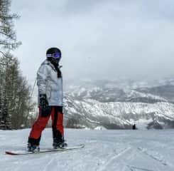 Snowboarding in Aspen! I love traveling and trying new sports