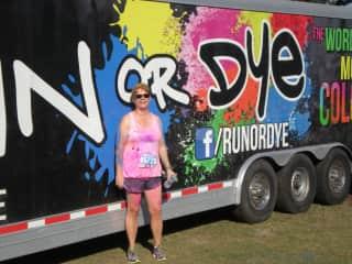Carol running 5k in Florida