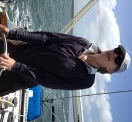 Sally at the helm 2015