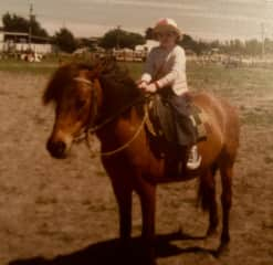 Mum recently sent me this photo of me on a pony when I was a little tacker. We didn't own one but it was my birthday request to ride one.