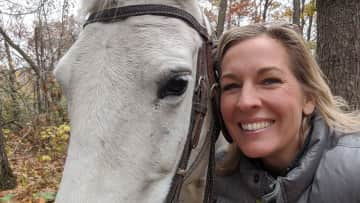 I'm so lucky to have a friend that lets me ride her horse after my horse (profile pic) had passed.