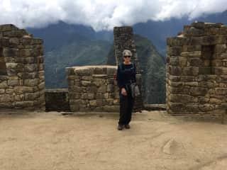 Exploring Macha Picchu after hiking the Inca Trail.
