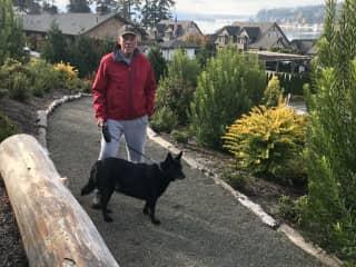 Doug on Bainbridge Island with Mia