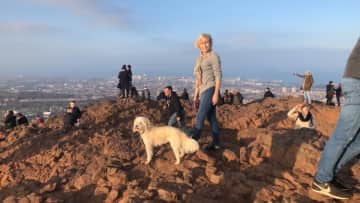 Arthurs seat with Nellie