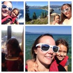 Tahoe fun with my daughter. Hiking, swimming, jet skiing, & eating.
