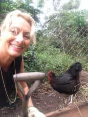 Gardening with my helper!