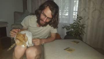 Robert with Dakkies