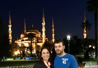 Me and Elaine (girlfriend) on a trip to Istanbul. We love to travel.