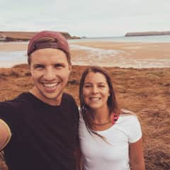 Mike and Lauren in Cornwall