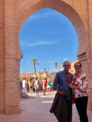 With husband in Morocco