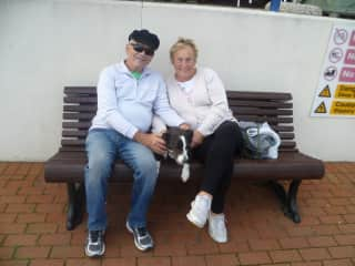 Myself and Frank, my husband. with Rusty in Uckfield