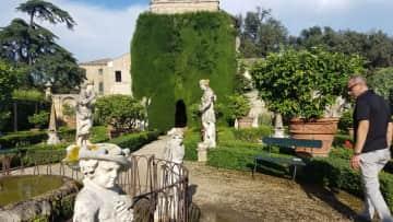 Visiting a local villa and gardens
