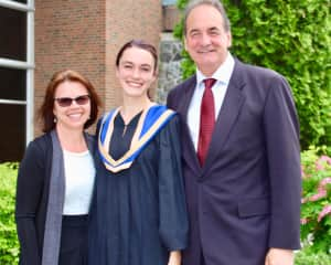 Our daughter graduating from nursing and psychology.