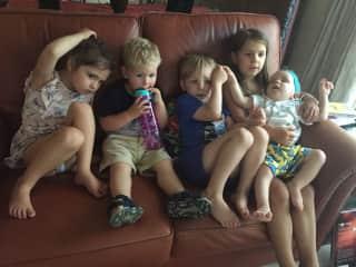I love this bunch of scallywags. Grandchildren!