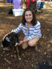 Duke and I tailgaiting on the quad at a University of Alabama football game