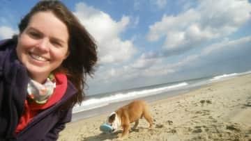Marley & me at the beach!