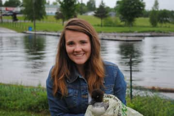 Me with a rescue duck