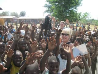Claudia and Rob in Malawi, Africa working with their nonprofit foundation United Village Transformation