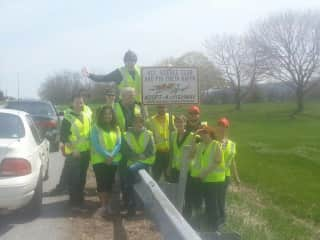 Volunteering to clean litter from our local roads :)