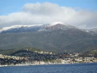 Hobart, showing Mount Wellington.