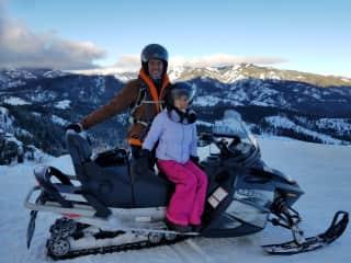 Snowmobiling in the Cascade Mountain Range (Washington State)