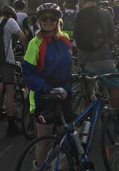 Liz training for Great Vic Bike Ride