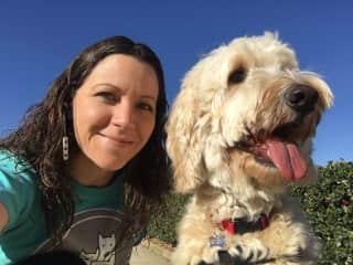 Lenoria on a professional dog walk fro The Waggle Company