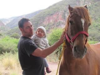 Ricardo & Alice horseing around..... :)