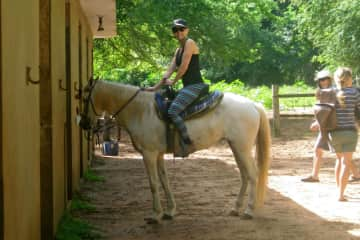 Me horseback riding in Puerto Rico