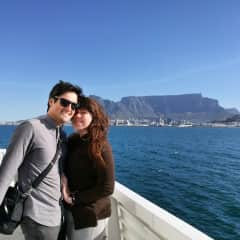 In Cape Town on our honeymoon!