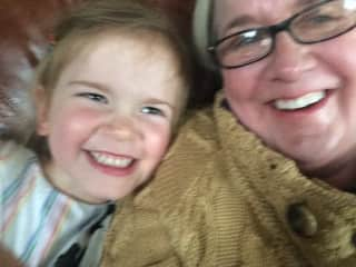This is me with my granddaughter. She is the best! She loves her granny .