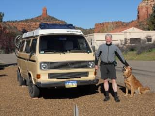 Jim and Bosco in Arizona