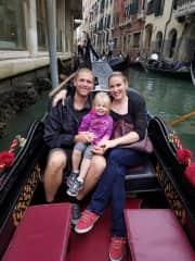 Enjoying the scenery in Venice