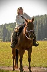 Me, horseback riding in Montana.