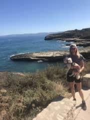 Hiking with Nala in Sardinia, Italy!