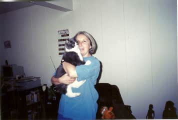 Me with my friend's cat
