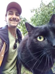 My Boyfriend Sebastian and our cat Paul