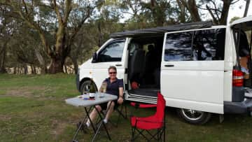 Les and I love to get away in our campervan.