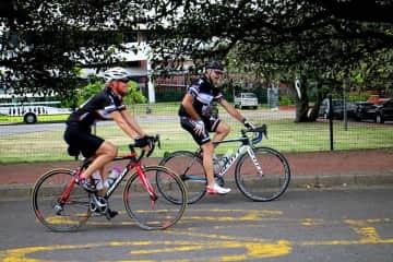 Nick and Marina love cycling!