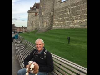 Jim with Truffle in Windsor UK 2019