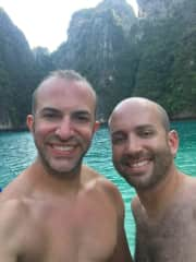 Here we are snorkeling in Thailand
