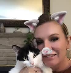 Rachel with Kitty Kate