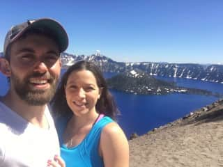 We love hiking and exploring new areas! This is Crater Lake in Oregon!