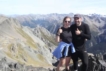 Lachlan and I are up one of New Zealand's beautiful walks. We enjoy hiking, nature and being outdoors.
