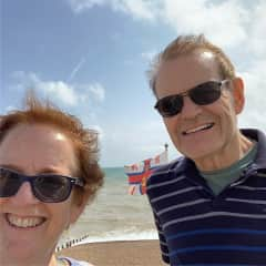 Bob and me in Hastings, England