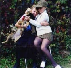 Me, my sister and our dog Lucky when we were younger.
